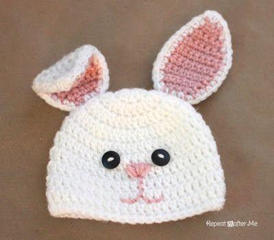 conejo gorro lana crochet patrón | Proyectos que debo intentar ...