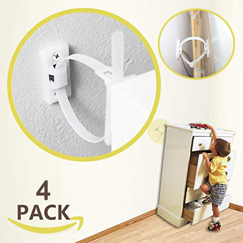 Free 2 Day Shipping Buy Auchen Earthquake Straps Adjustable Baby Furniture Straps Baby Proofing Anti Tip In 2020 Furniture Straps Furniture Anchors Fall Furniture