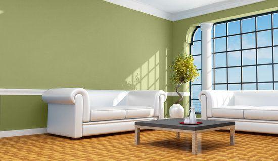 casa y color de colores salon en verdes