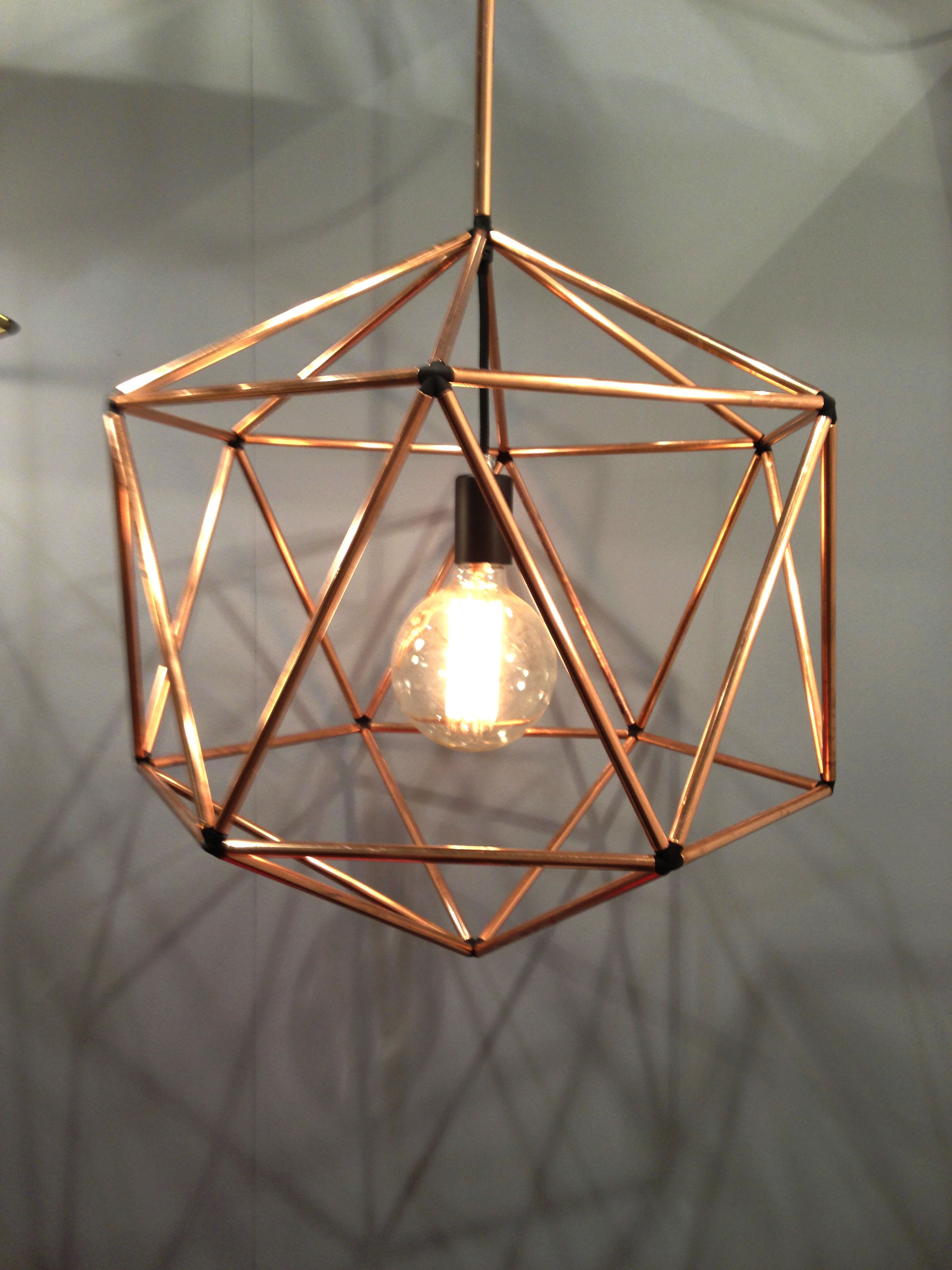 Copper pendant light by Ben Tovim Design