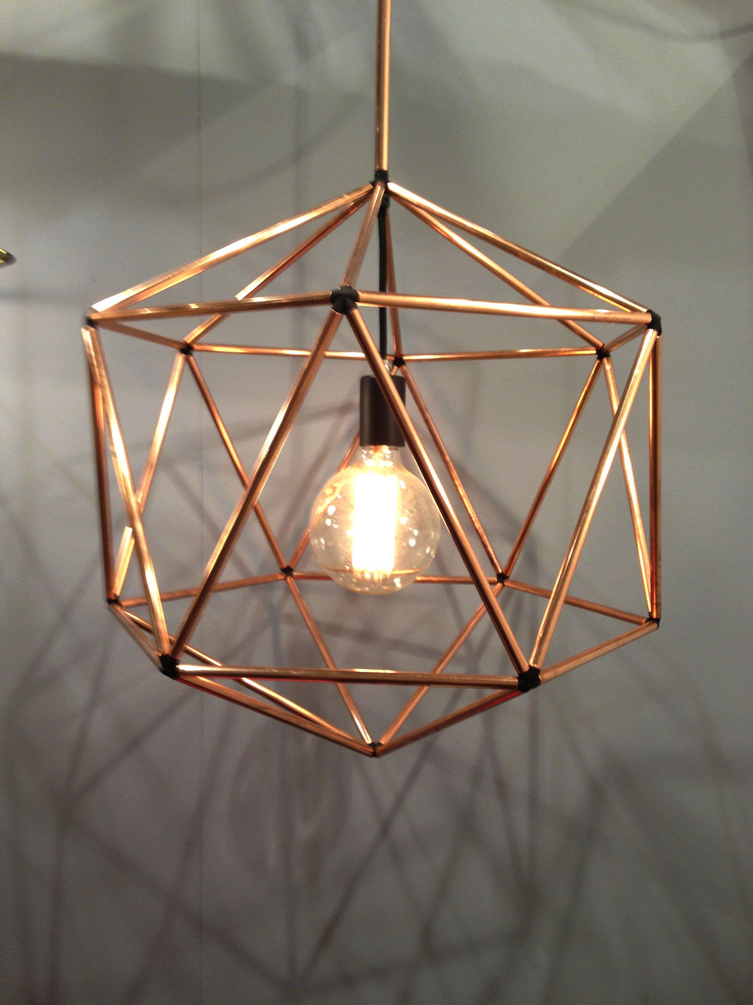 Copper pendant light by Ben Tovim Design  For the Home