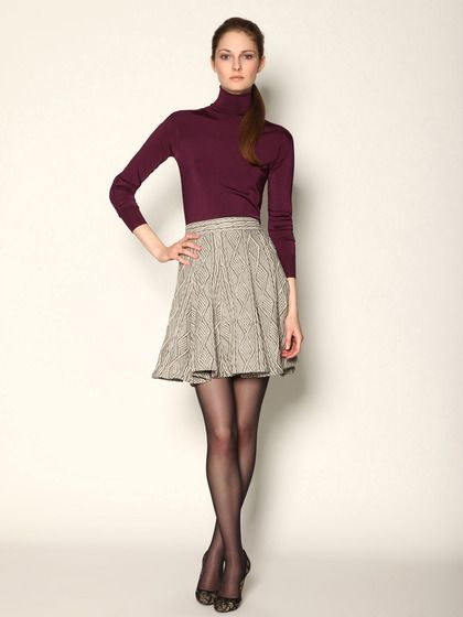 Kara Cable Knit Flared Skirt by Pink Tartan. Perfect outfit for work!
