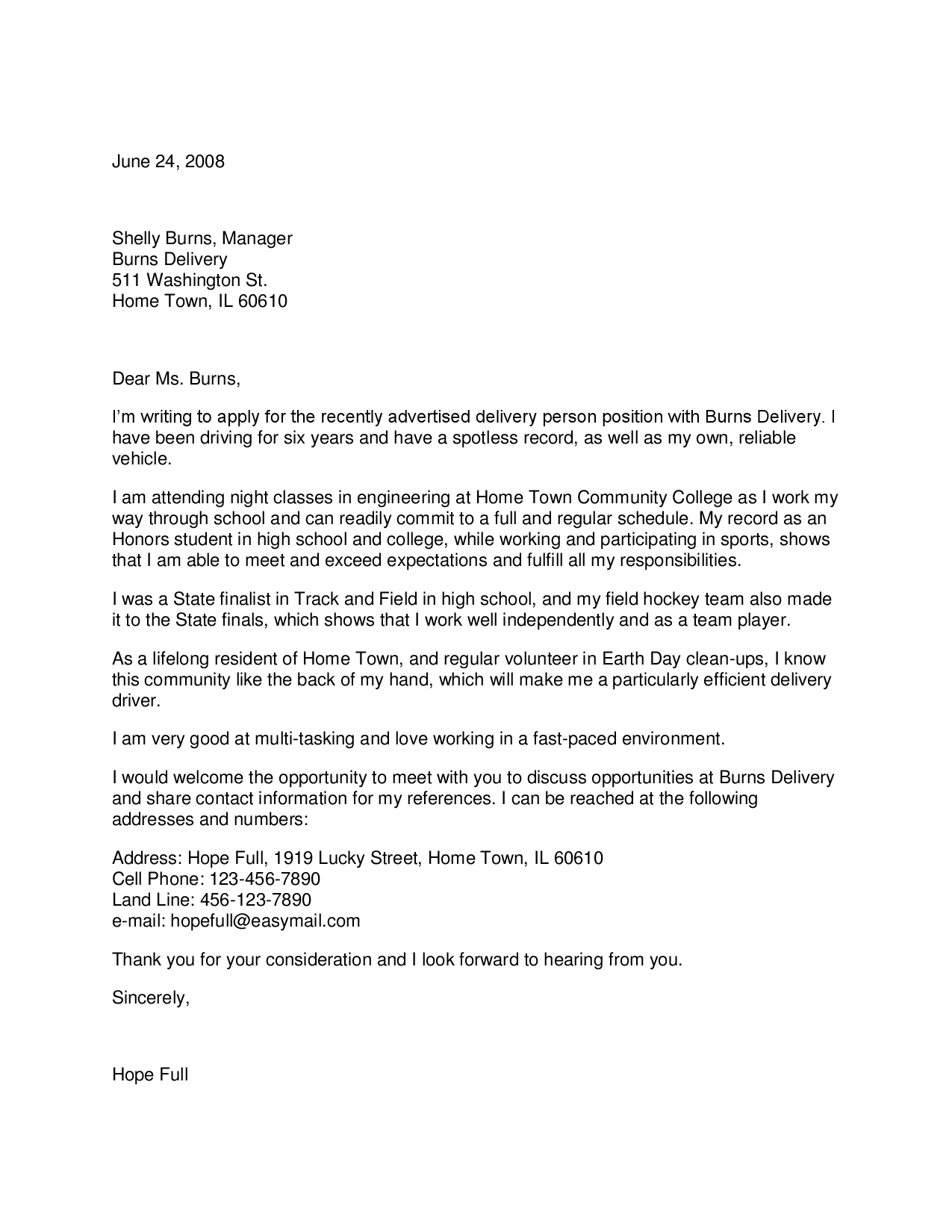 Letter Happytom Delivery Driver Cover What Letters Related Post How Write Application Cover Letter For Resume Resume Writing Format Resume Writing Services