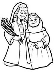 Image Result For Bible Coloring Pages Ruth And Naomi Sunday