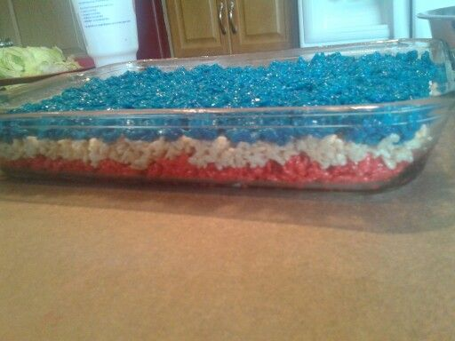 fourth of july rice krispies! :)