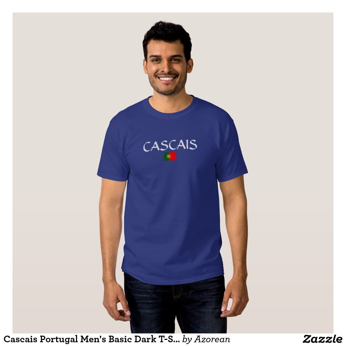 b5d9e335 Cascais Portugal Men's Basic Dark T-Shirt   Zazzle.com   Portuguese ...