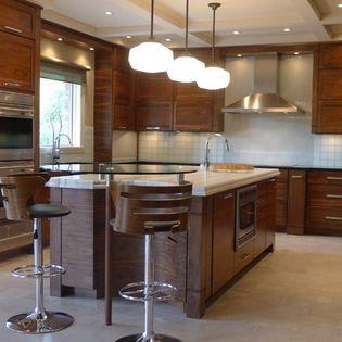 Example of wood grain Walnut horizontal grain kitchen ...