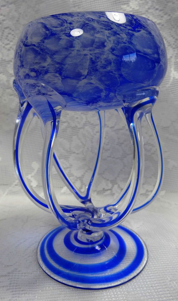 Postmodern Abstract Jellyfish Glass Candle Holder