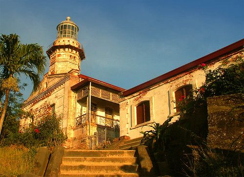 CAPE BOJEADOR, Burgos, llocos Norte - Is an exemplary nineteenth century architectural lighthouse model with its tower, lamp, keeper's quarters and ancillary structure