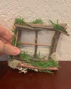 Fairy garden window, wooden fairy doll house, mini
