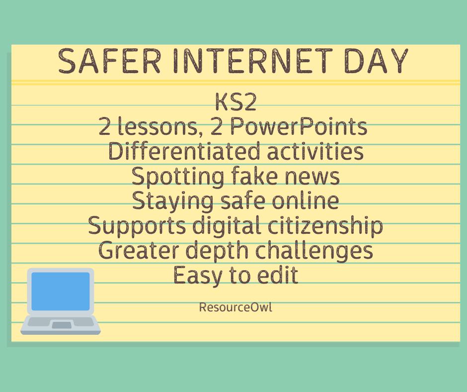 Safer Internet Day Safe Internet Differentiation Activities Staying Safe Online