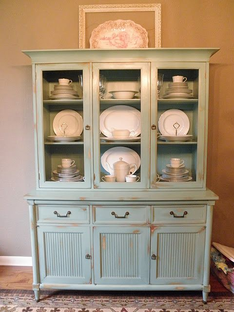 Painted Hutch Ideas China Cabinet Makeovers