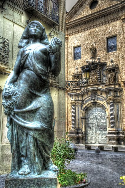 Sculpture of Pablo Gargallo. Church of San Felipe, Zaragoza, Spain