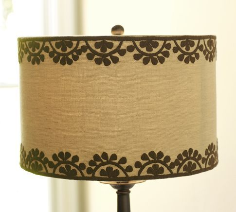 Medina Embroidered Drum Lamp Shade 70 Pottery Barn