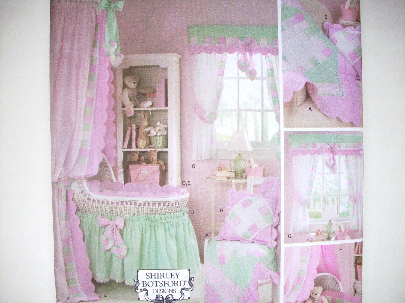 Baby bed accessories - Simplicity 3729 Baby Nursery Accessories Crib Bassinet Sewing Pattern New