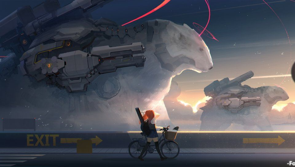 Anime Artwork Bear Fantasy Futuristic Wallpaper Digital Art Anime Sci Fi Wallpaper Hd Anime Wallpapers Futuristic anime wallpaper 1920x1080