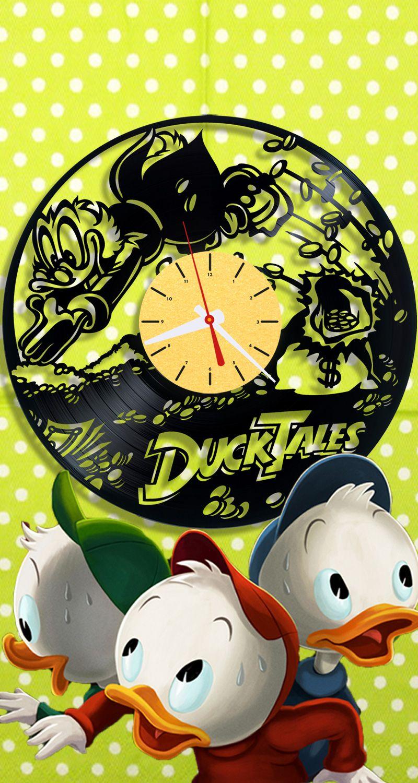 Duck Tales Vinyl Clock| Disney Wall Clock| Vinyl Record Clock 1/8/2 ...