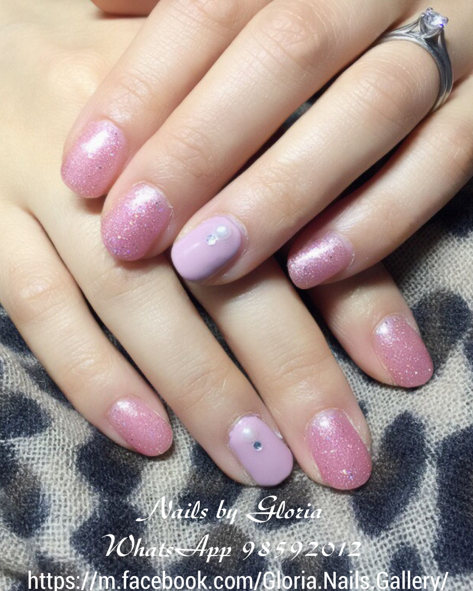 Pinky And Sparkle Nails Manicure Pinknails Softgel Hardgel Gel Pink