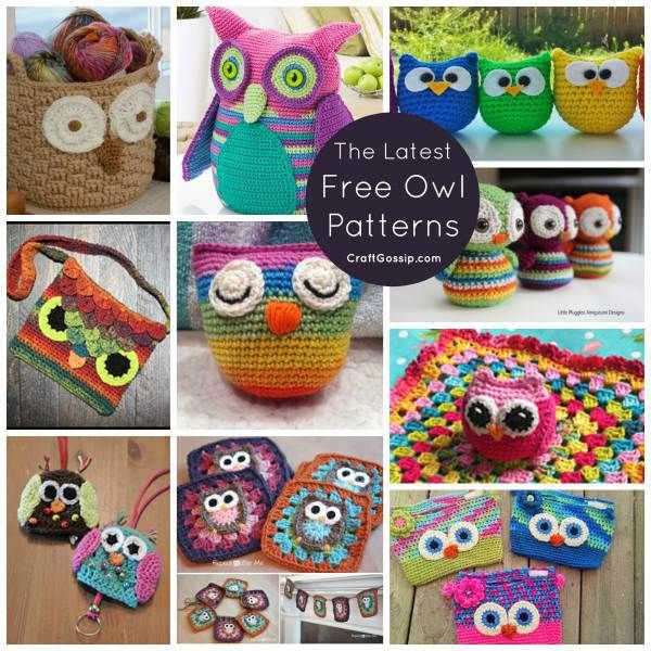10 Owl Patterns – What A Hoot! | Crochet patrones, Monederos y Manta