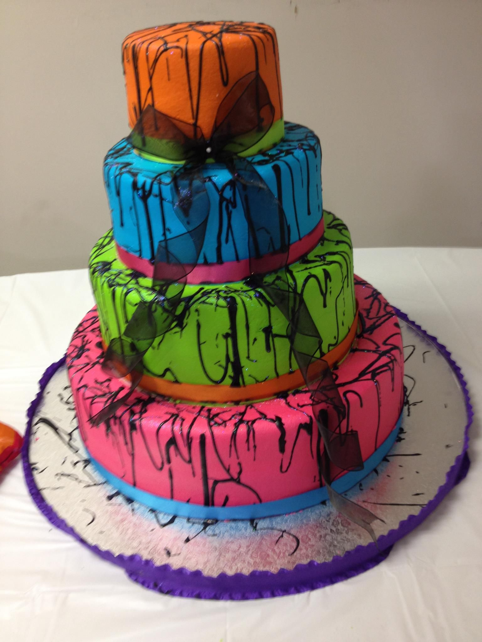 Magnificent Brittnies 80S Theme Graduation Party Cake Anns Bakery Tulsa Personalised Birthday Cards Veneteletsinfo