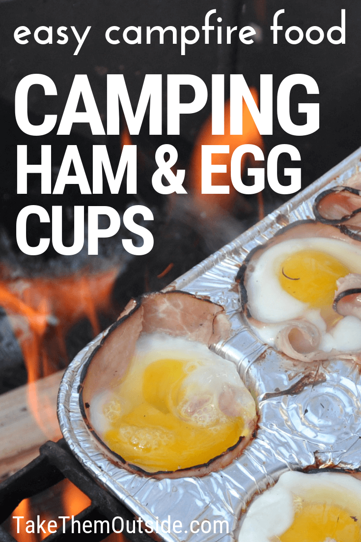 Campfire Egg Cups with Ham #campingideas
