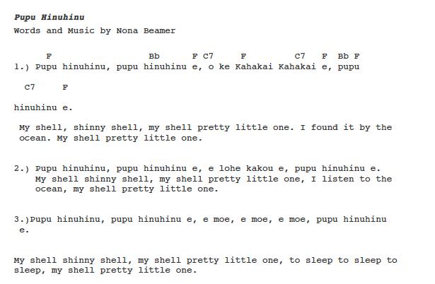 Pupu Hinuhinu   PS Learning: \'Ukulele Keiki Sheet Music   Pinterest ...