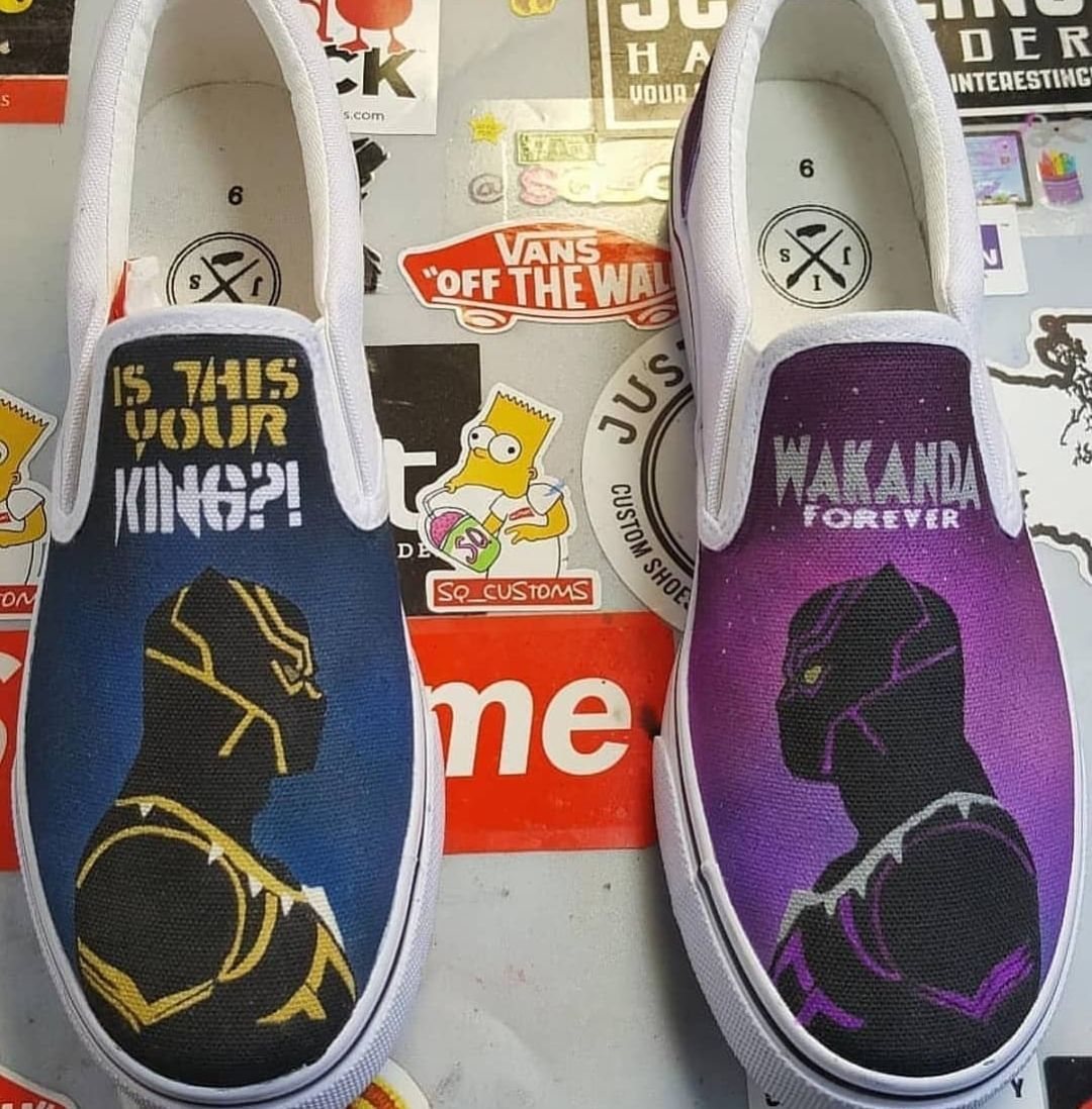 Custom Black Panther vs Killmonger Vans  4b51e6852