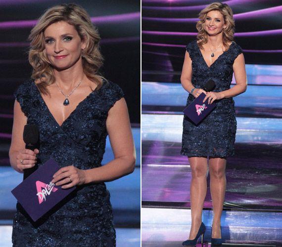 Végre egy előnyös ruha! Novodomszky Éva ezt a csipkecsodát viselte a tegnap  esti műsorban  62033f09d3