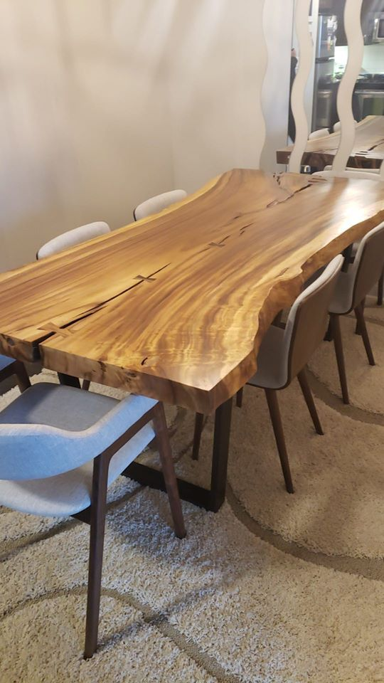Customize it. Our tables are already one-of-a-kind with their unique wood grain details, but we do offer plenty of customizable options! Choose the size, leg style, and leg colour to best suit your space. . Shop Now at www.wazofurniture.com . #furniture #interiordesign #design #interior #homedecor #furnituredesign #home #decor #sofa #architecture #interiors #homedesign #decoration #livingroom #art #wood #furniturejepara #vintage #mebel #luxury #furnituremurah #woodworking #interiordesigner
