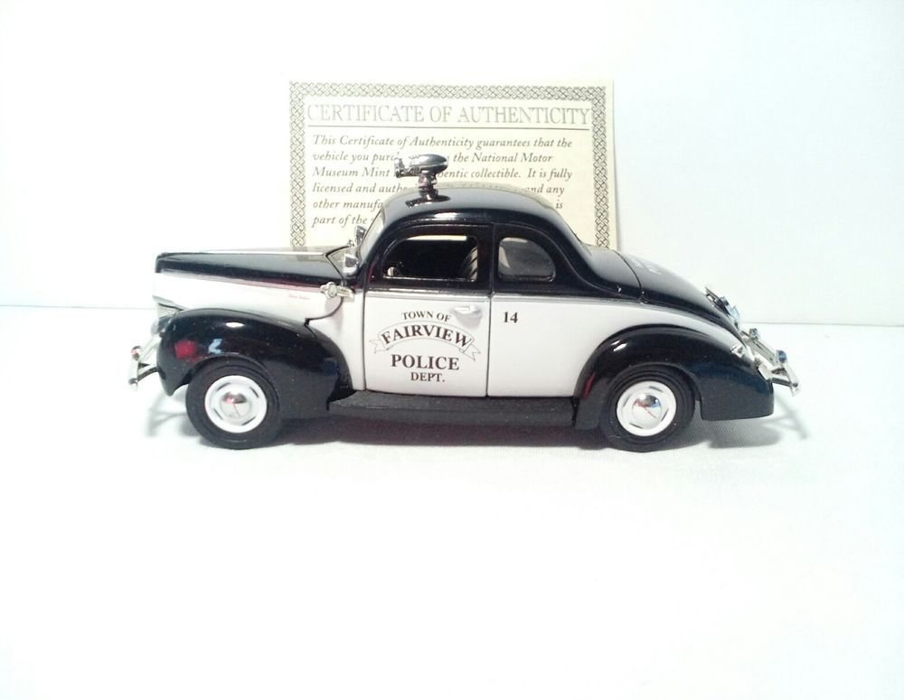 1940 Ford Town Of Fairview 1/32 Scale Diecast Police Car | Old ...