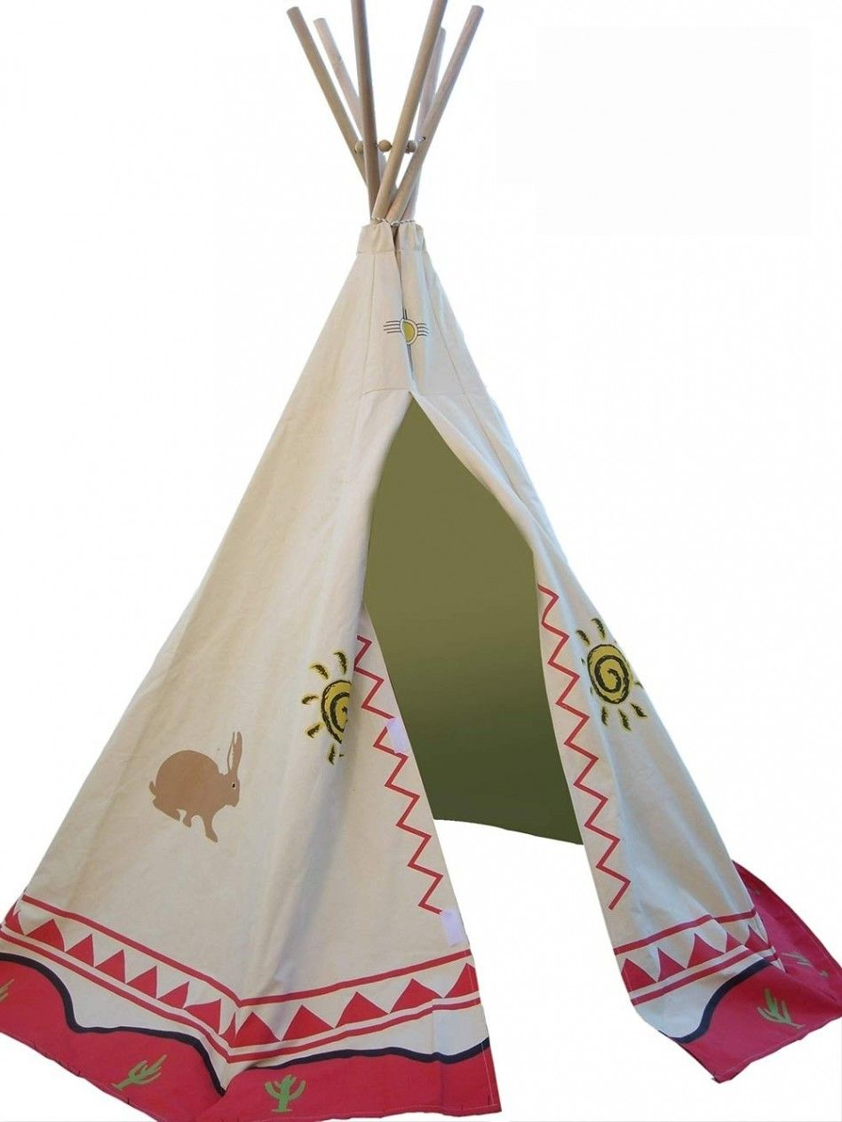 Accessories Awesome Teepee For Kids With Rabbit Pattern