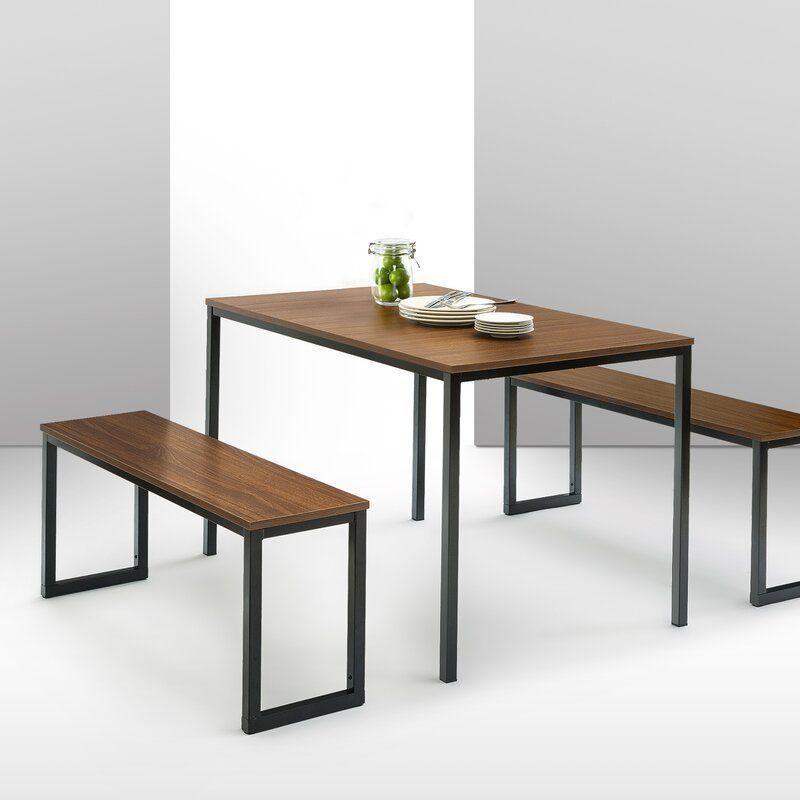 Windermere Dining Set With 2 Benches Em 2020 Sala De Jantar Minimalista Moveis Estilo Industrial Decoracao De Casa