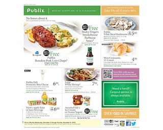Publix Coupon Deals Week Of 12 3 Publix Weekly Ad Publix Coupons Publix