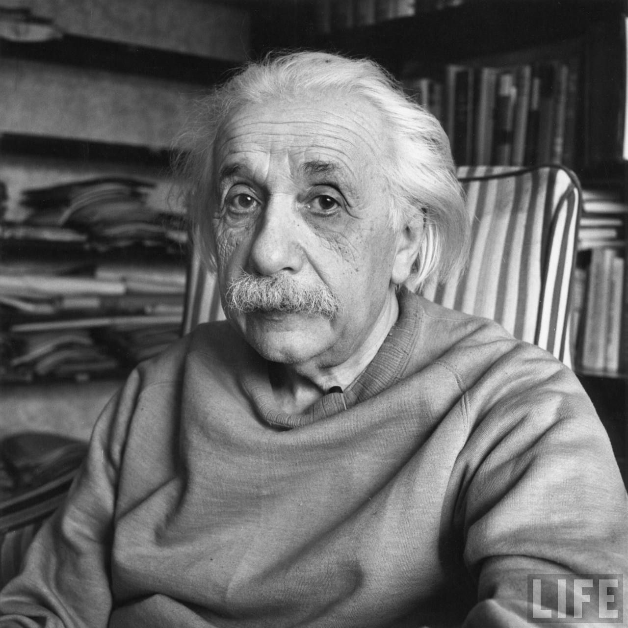 Portrait of Professor Albert Einstein. Location: US  Date taken: 1947  Photographer: Alfred Eisenstaedt
