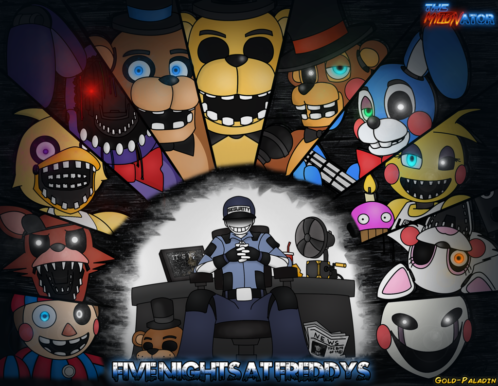 Five nights at freddys dress up game - Five Nights At Freddys 2 Feat Gold Paladin By Miltonator Deviantart Com On