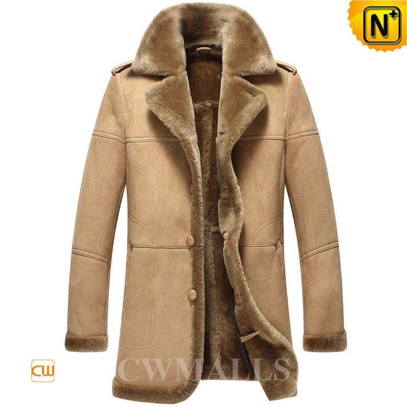 b85adf1e9b5 Tan Shearling Sheepskin Coats Mens CW858118 Stylish winter sheepskin ...