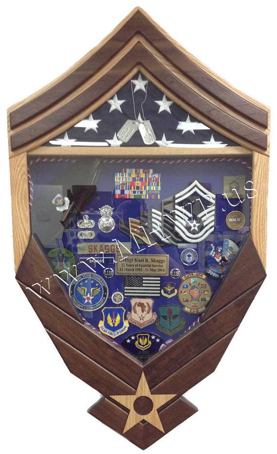 Air Force Logo Senior Master Sergeant (E8) Shadow Box