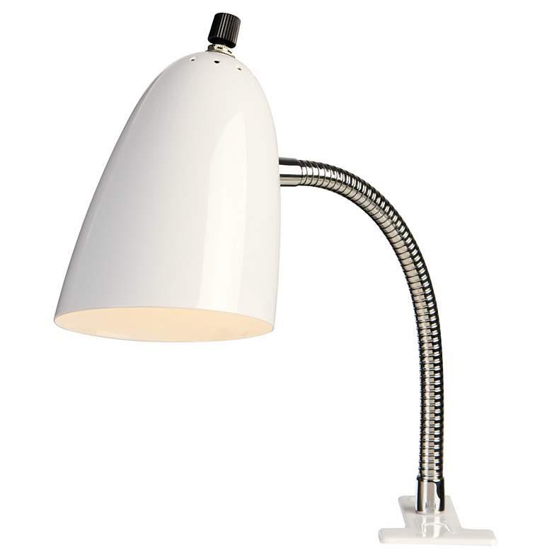 White Gooseneck Arm Clip Light By Pro Track 74411 Lamps Plus Lamp Clip Lights Lamps Plus