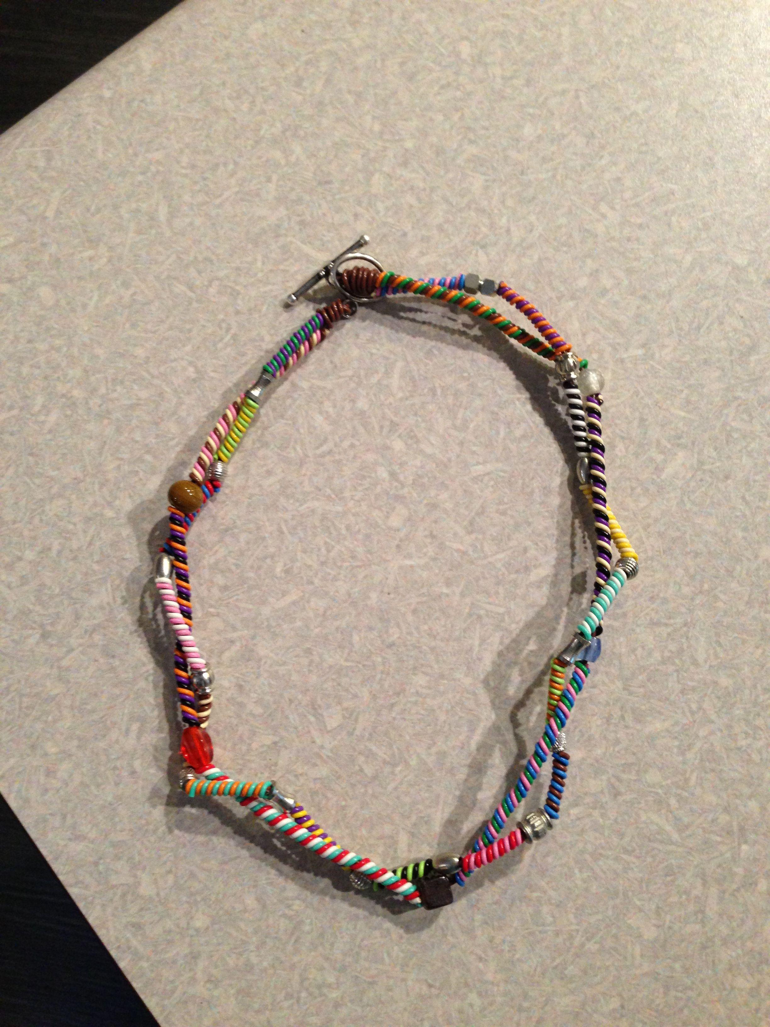Phone wire jewelry