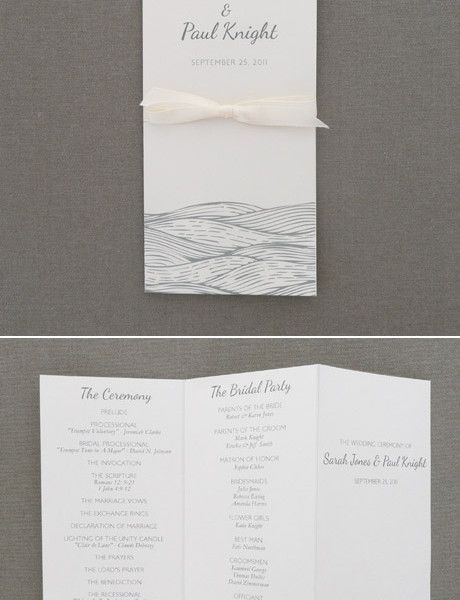 wedding program template beach waves design beach destination