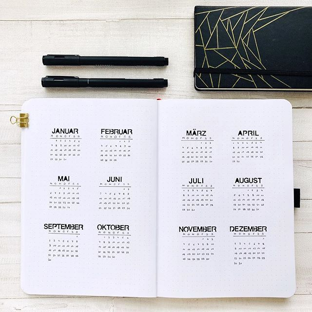 Bullet Journal year at a glance - #August #Bullet #Collections #December #Fitness #Fonts #Glance #Ho...