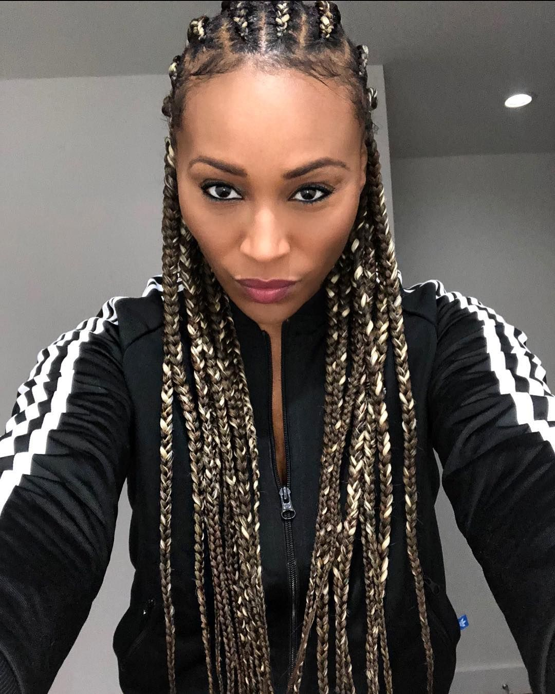 cynthia bailey looks gorgeous in new braided hairstyle