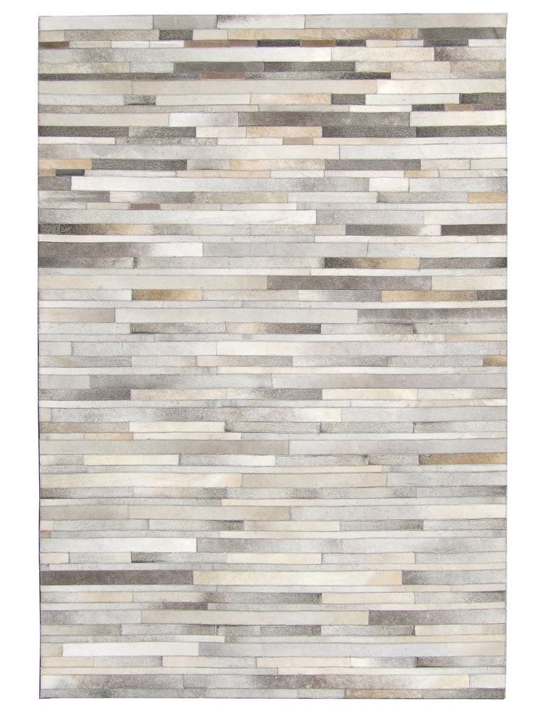 New Cowhide Patchwork Rug Leather Carpet Exclusive Design