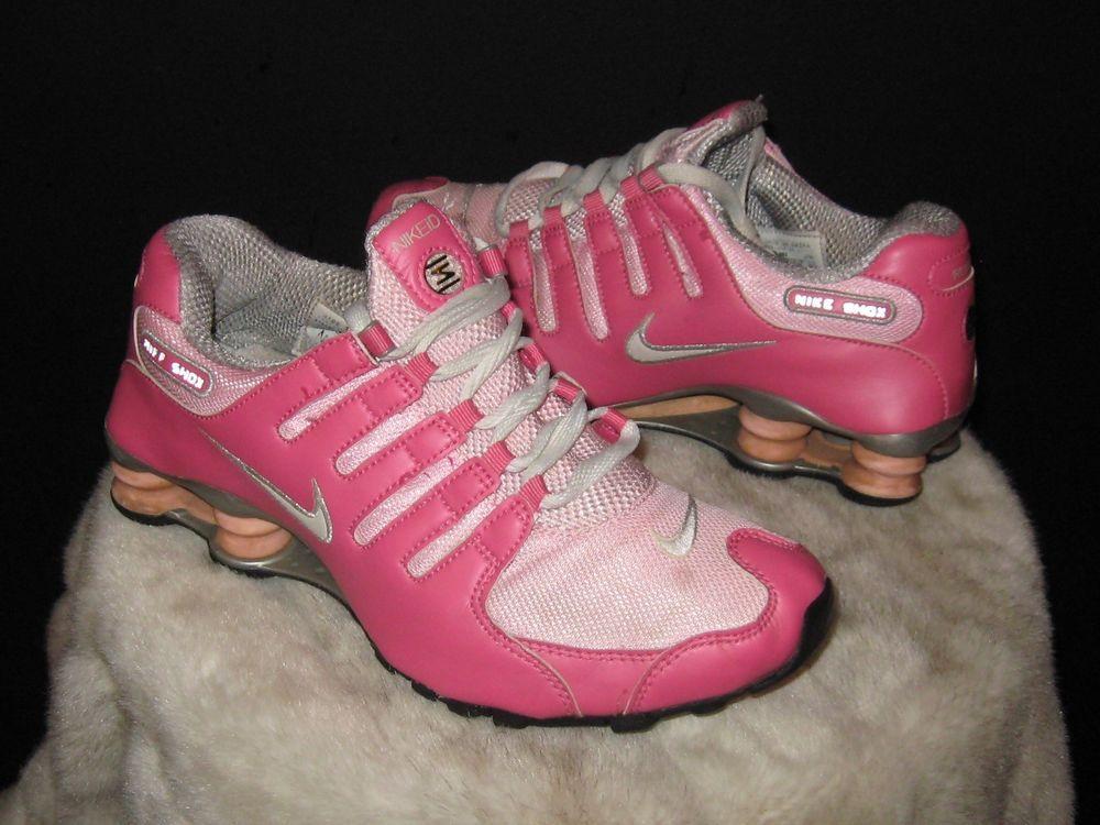 Women s Nike Shox NIKEID Running Sneakers Sz 8.5 Pink 445485-994  Nike   RunningCrossTraining  exercise 033c5c820