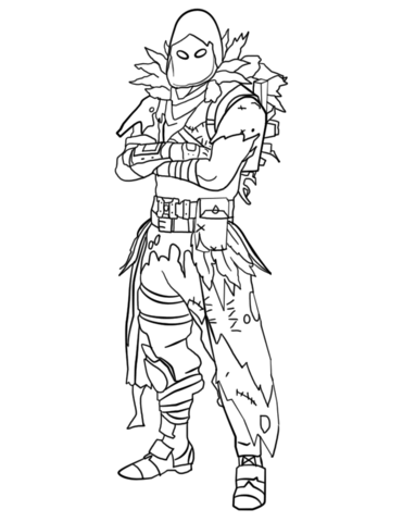 Fortnite Raven Coloring Page Fortnite Drawings Coloring Pages