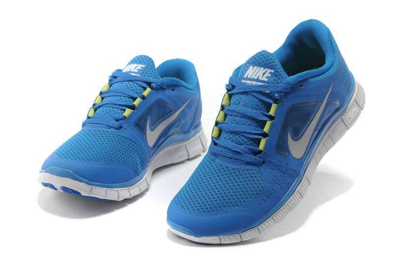 reputable site 6cc59 47fdc Nike Free Run 3 Size 36-46 University Blue Reflect Silver Neon Green   49.17