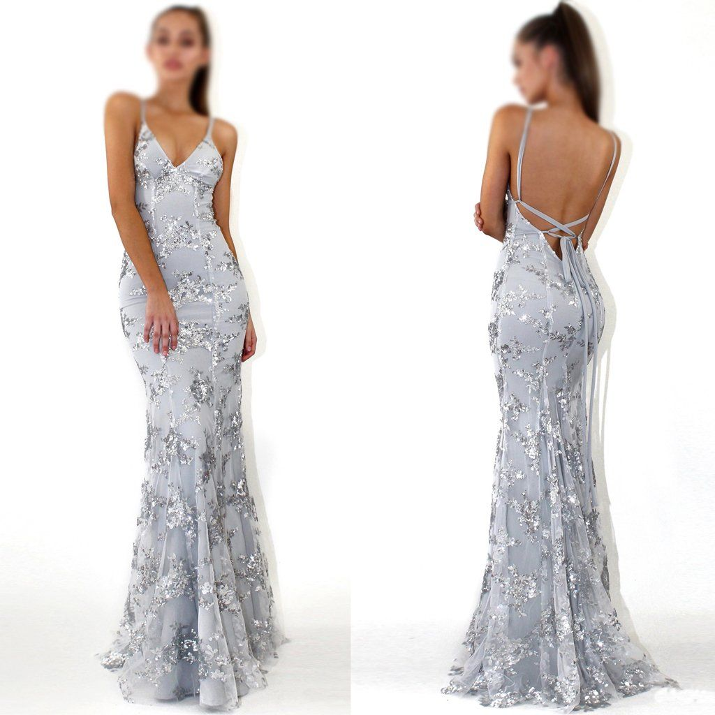 21677324bb3 2018 Charming Sequin Silver Sparkly Mermaid Popular Newest Prom Dresses,  Fashion Gown, Evening Dresses, PD0305