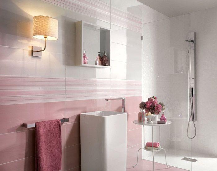 Rivestimento in pasta bianca petali fresia dalia pliss - Ceramiche bagno moderno ...