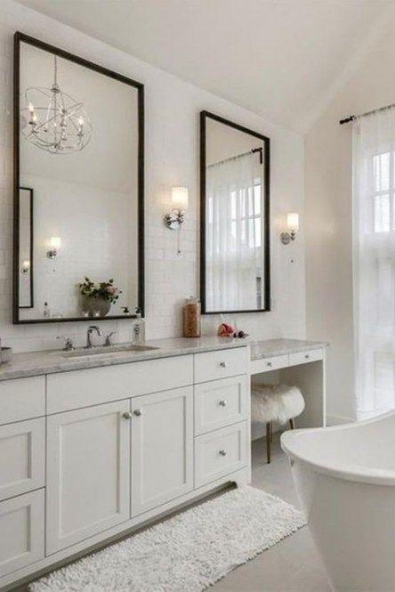 Bathroom Vanity Ideas Makeup Tubs 34 Best Ideas Makeup Bathroom In 2020 Bathroom With Makeup Vanity Luxury Bathroom Tiles Double Vanity Bathroom