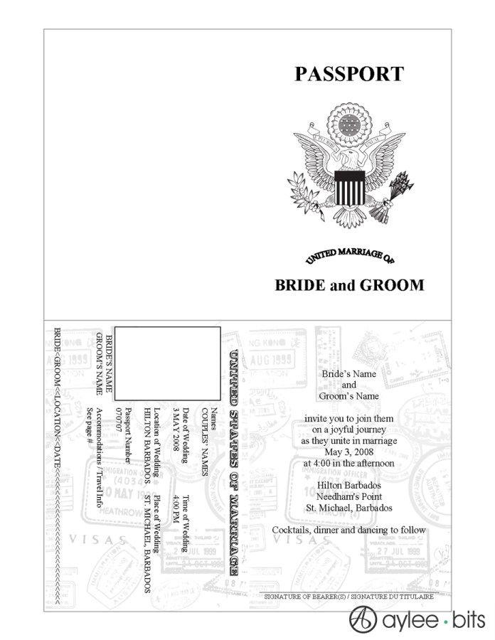 Templates Passport Invitation Template Passport Invitations Passport Template